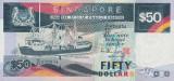 SINGAPORE █ bancnota █ 50 Dollars █ 1997 █ P-32 █ UNC