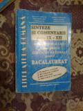 N4 LITERATURA ROMANA SINTEZE SI COMENTARII CLASELE IX-XII - N. Nicolae