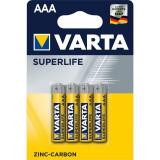 Baterii zinc carbon Varta Superlife AAA , LR03 4 Baterii / Set