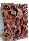 Tablou sculptura dintr-o singura bucata de lemn