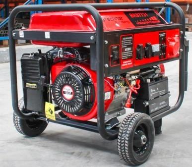 Generator curent pe benzina trifazat (1 x 380V, 2 x 220V), AVR, putere maxima... foto