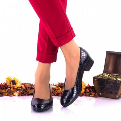 Pantofi dama casual,indigo, din piele naturala, croco - NA234C foto
