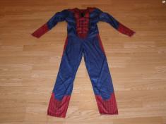 costum carnaval serbare spiderman pentru copii de 8-9 ani foto