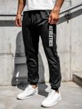 Pantaloni de trening negri bărbați Bolf CE010