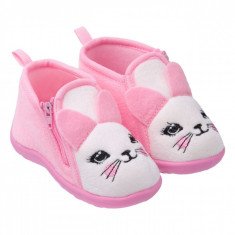 Botosi de casa imblaniti, model pisica, marime 20, pentru fetite, roz