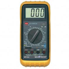Multimetru profesional, ecran LCD, sonda temperatura, carcasa antisoc