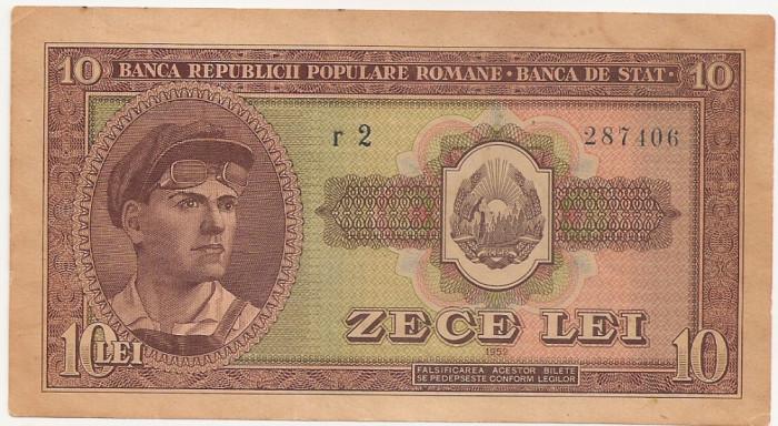 ROMANIA 10 LEI 1952 XF+ AUNC SERIE 1 CIFRA INVECHITA
