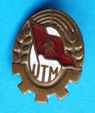 Insigna veche 1960 UTM Uniunea Tineretuilui Muncitor