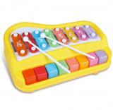 Pian muzical de jucarie pentru copii cu 8 clape, multicolor RT2153A