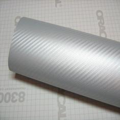 Folie carbon 3D Argintiu 1,27 x 2m
