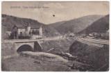 #2477- Romania, Busteni c.p. circulata: Valea Cerbului, Sala Riegler, sine c.f., Fotografie