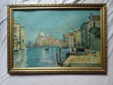 Venetia ; Ulei / carton , inramata , pictor roman, Marine, Realism