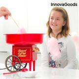 Aparat de făcut Vată de Zahăr InnovaGoods 500W Roșu