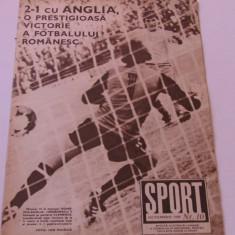 Revista SPORT-nr.10/10.1980(meci fotbal Romania-Anglia)