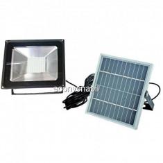 Proiector LED 50W cu Panou Solar si Telecomanda ON/OFF