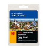 Cartus original Kodak T1802 compatibil Epson, 12ml, Cyan, Premium Kodak