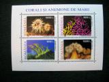 Corali si anemone, bloc neuzat, MNH, L.P. 1577a, 2002