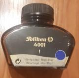 Calimara cu cerneala vintage Pelikan 4001 Royal Blue Germany, 1993