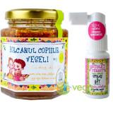 Borcanul copiilor veseli 200g + Gatulet fericit 20ml - Kit pentru imunitatea copiilor