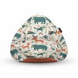 Fotoliu Units Puf Bean Bags tip para impermeabil cu maner ursi cerbi si alti prieteni