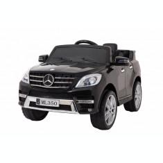 Masinuta electrica Premier Mercedes ML-350, 12V, roti cauciuc EVA, scaun piele ecologica, neagra