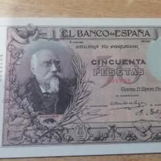 MDBS - BANCNOTA SPANIA - 5 PESETAS -1905