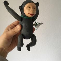Maimuta Riri Metaloglobus, jucarie romaneasca veche, maimutca cu cheita, anii 80
