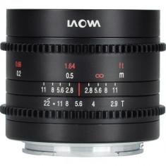 Obiectiv Manual Venus Optics Laowa 9mm t/2.9 Zero-D Cine-Mod pentru Canon RF-Mount