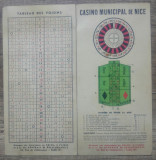 Brosura interbelica Casino Municipal de Nice