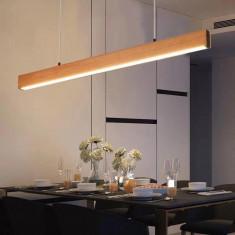 Lustra LED Wood Design 40W cu telecomanda