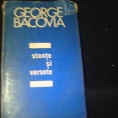 STANTE SI VERSETE-GEORGE BACOVIA- POSTUME-, Alta editura