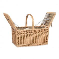 Cos picnic pentru 4 persoane, 21MAR1576, 46x31x40 cm, Everestus, Rachita, Natur, saculet si pastila racire incluse