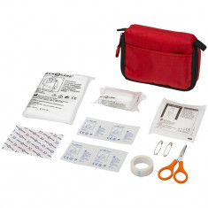 Trusa de prim ajutor 19 piese, nylon, Everestus, TSPA20, rosu, saculet de calatorie inclus