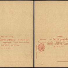 Switzerland - Postal History Rare Old Postal stationery + Reply UNUSED DB.117