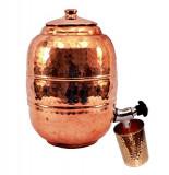 Cumpara ieftin Rezervor 10 L Ayurveda din Cupru pentru Apa +Pahar Cadou