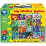 Puzzle de Podea in Limba Engleza Invata Numerele 20 Piese