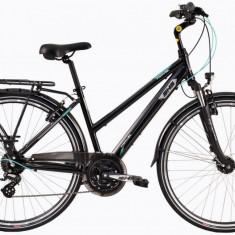 Bicicleta Dama Dhs Travel 2858 490mm Negru 28