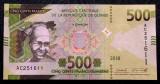 Guinea 500 Francs Franci 2018 UNC necirculata **
