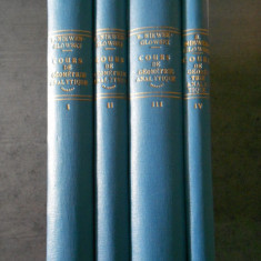 B. NIEWENGLOWSKI - COURS DE GEOMETRIE ANALYTIQUE  4 volume  (1925-1929)