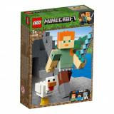 LEGO® Minecraft™ - Alex Minecraft BigFig cu gaina (21149)