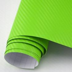 Folie carbon 3d verde deschis 152cm x 100cm