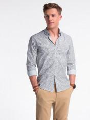 Camasa premium, casual, barbati - K475-alb-maro foto