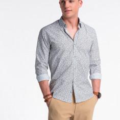 Camasa premium, casual, barbati - K475-alb-maro