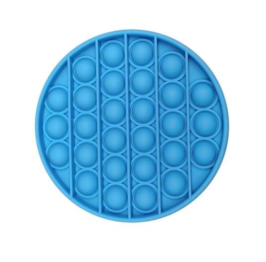 Push Bubble Fidget Jucarie Senzoriala, Autismul Are Nevoie Speciala De Detensionare ROTUND, Albastru + CADOU