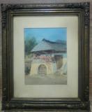 Casa taraneasca cu pridvor// acuarela pe hartie, Peisaje, Altul