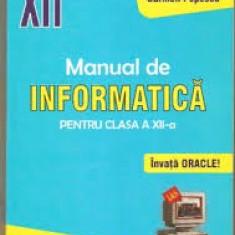 Carmen popescu manual de informatica xii