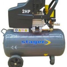 Compresor de aer Stager HM2050B, 2 CP, 50 L, 8 BAR