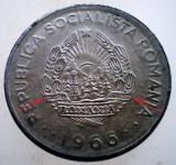 R.100 ROMANIA RSR 1 LEU 1966 VARIANTA RARA