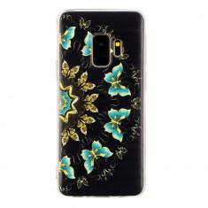 Husa Samsung S9 silicon fluture verde