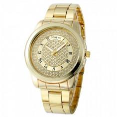 Ceas de Dama Geneva CS565, elegant cu bratara metalica